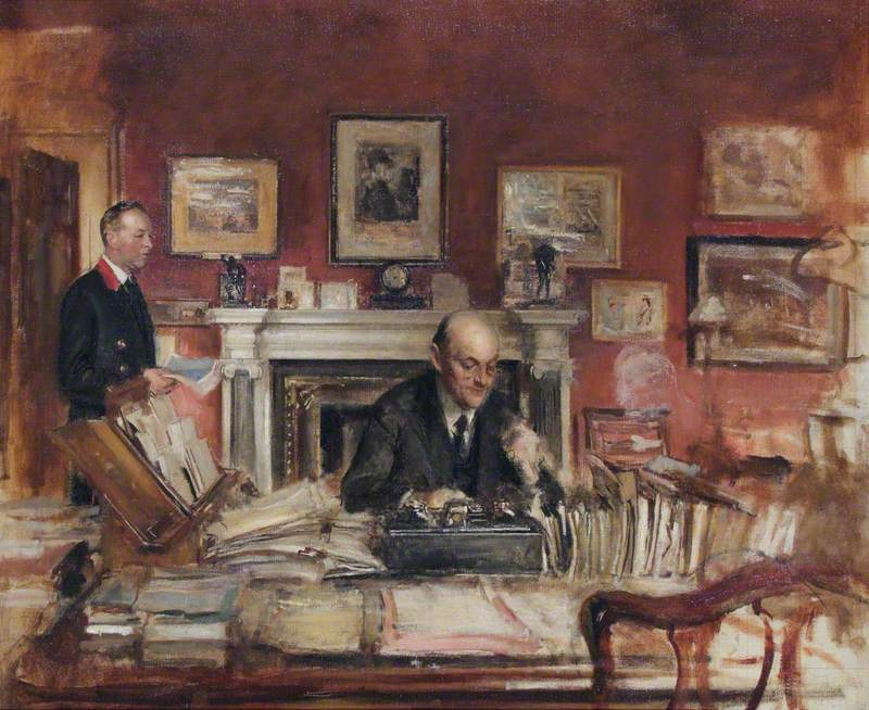 Sir W. R. Lamb and John Coy (In the Secretary's Office)