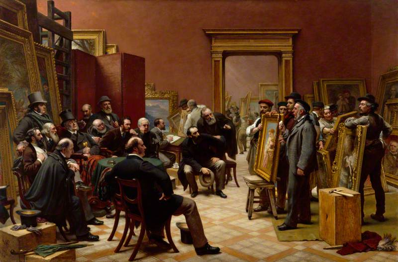 The Council of the Royal Academy Selecting Pictures for the Exhibition, 1875