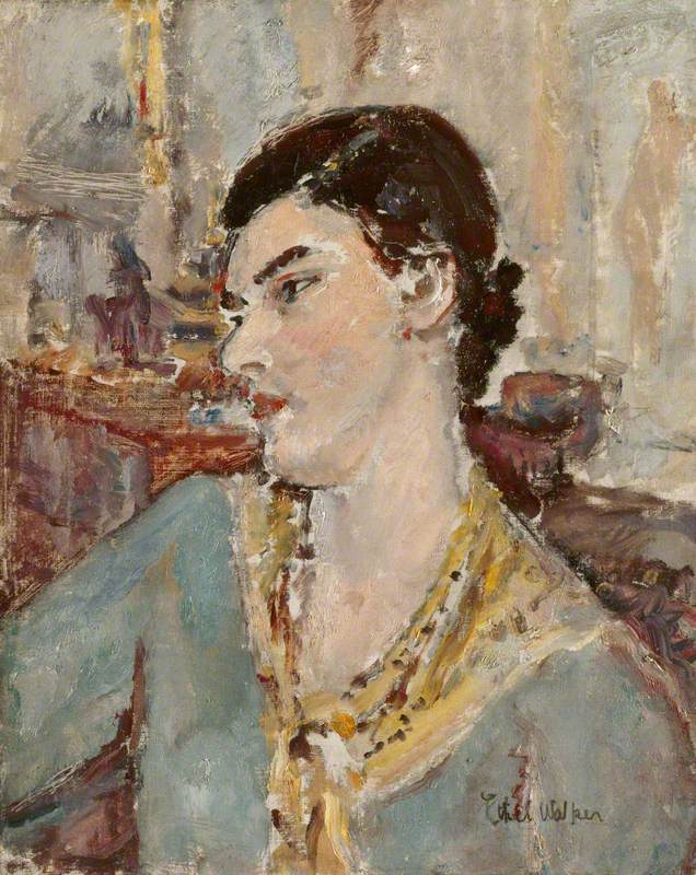 Portrait of a Woman with a Scarf (Gwen)