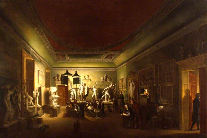 The Antique Room of the Royal Academy at New Somerset House