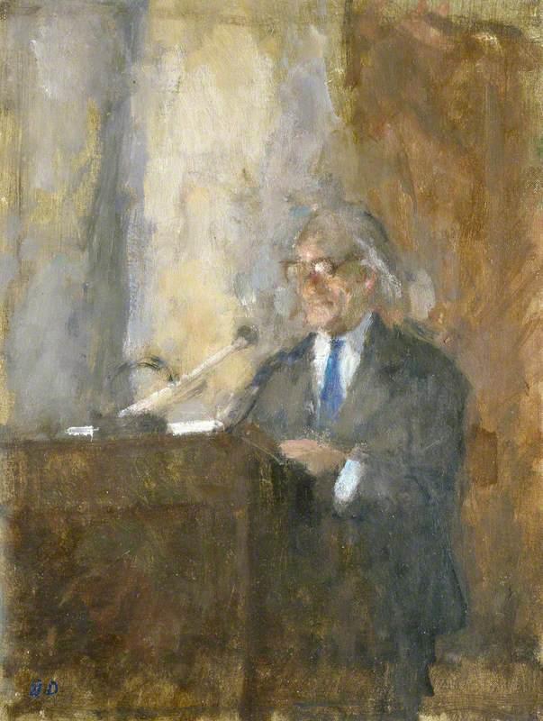 Sir Hugh Casson Lecturing