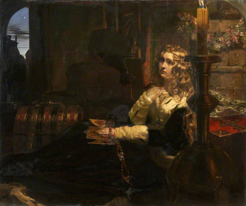 Elizabeth Woodville in Her Sanctuary, Westminster, after the Abstraction of Her Eldest Son, the Prince of Wales, by His Uncle Richard Crookback