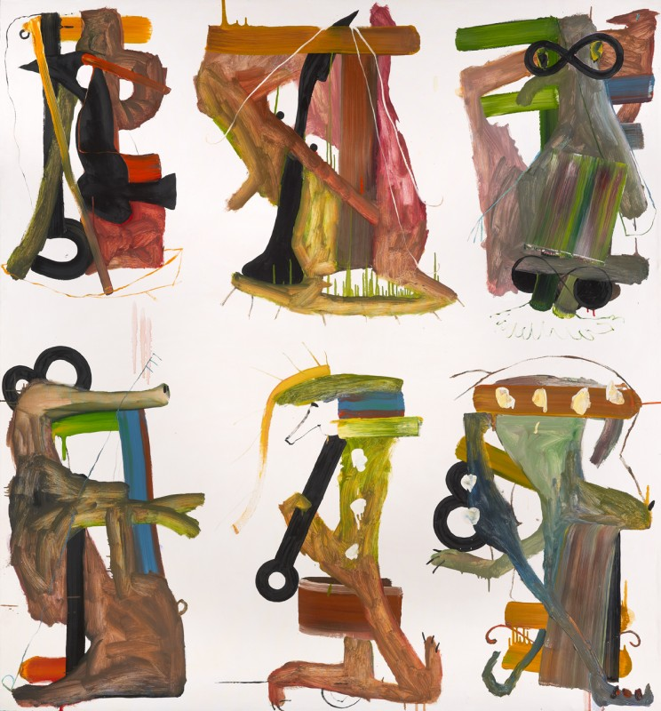 Untitled (six on brown)