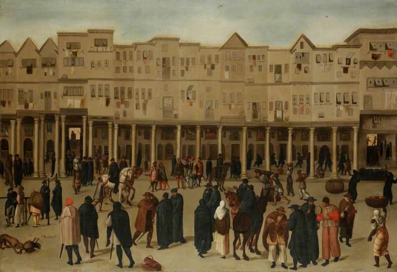 Town Scene in Lisbon