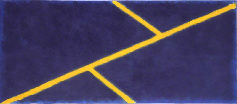Yellow Grid and Blue