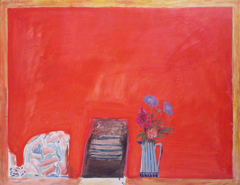 Flowers and Red Table