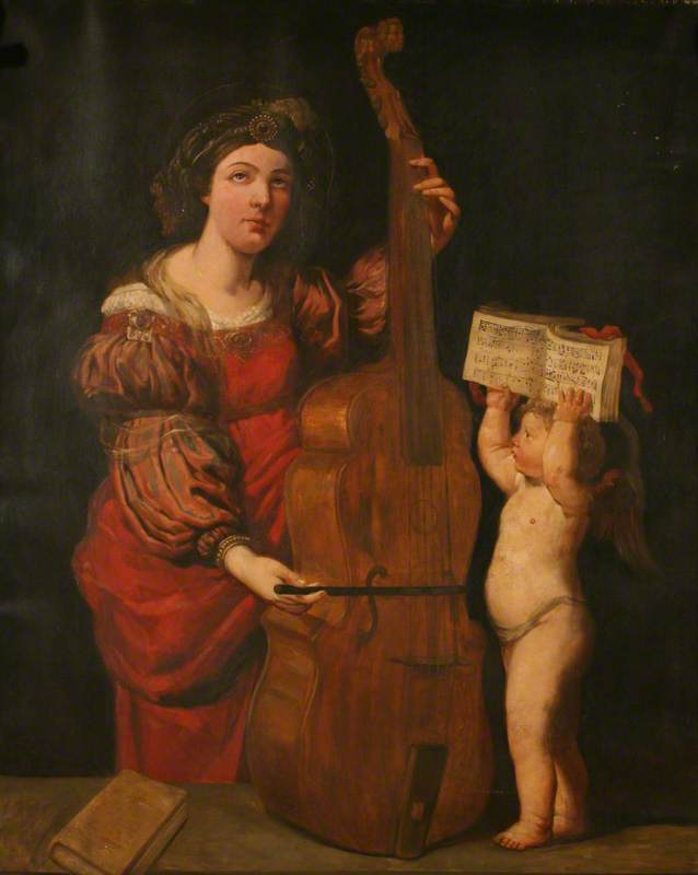Saint Cecilia Playing the Viol