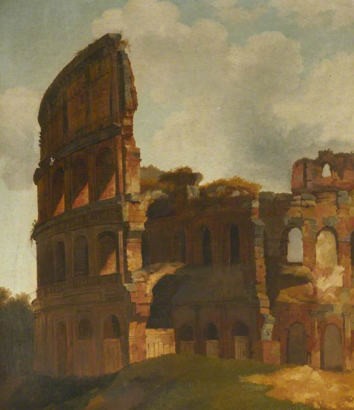 The Colosseum, Rome, before the Broken Exterior Wall Had Been Supported