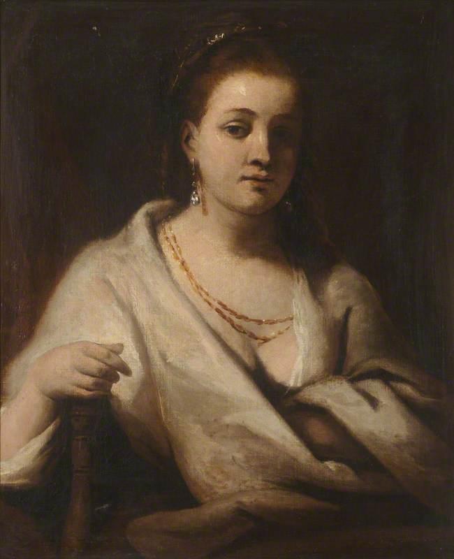 Hendrickje Stoffels in a White Cloak