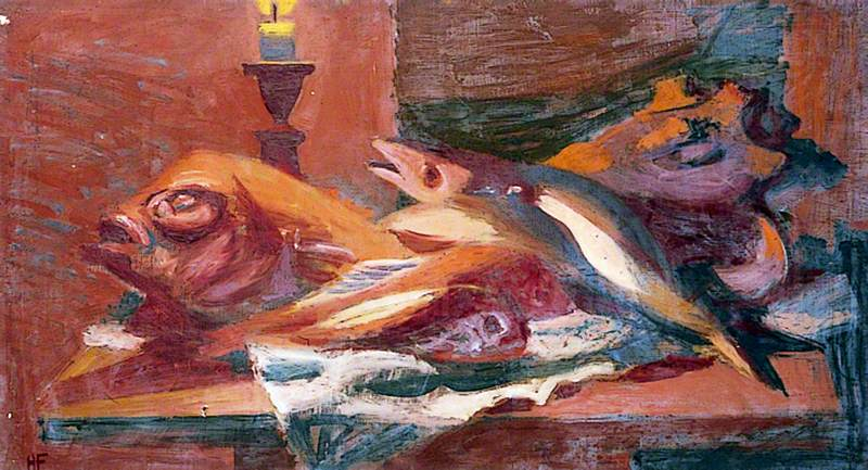 Still Life (Fish and Candle)