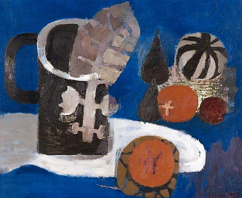 Still Life with Two Oranges