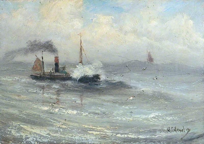 Steamship in Stormy Seas