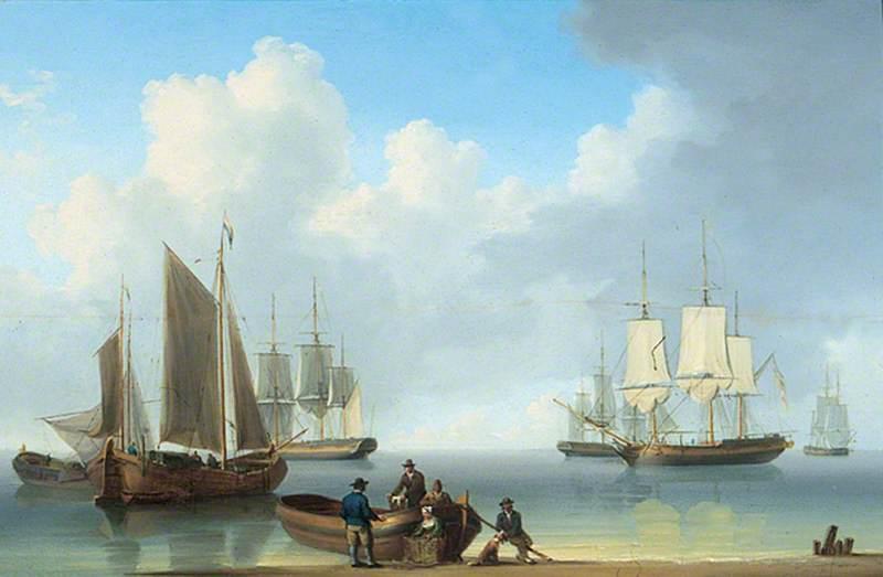 Sailing Ships off the Coast