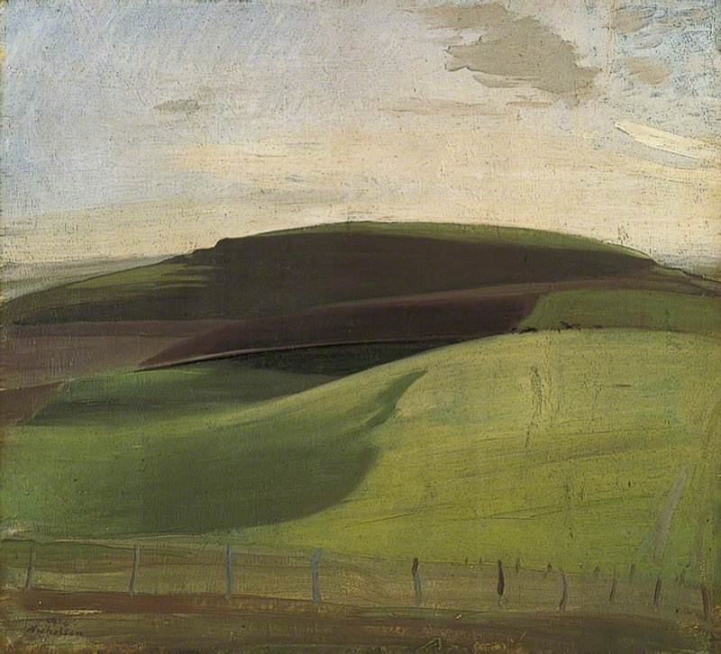 On the Downs (Wiltshire Landscape)
