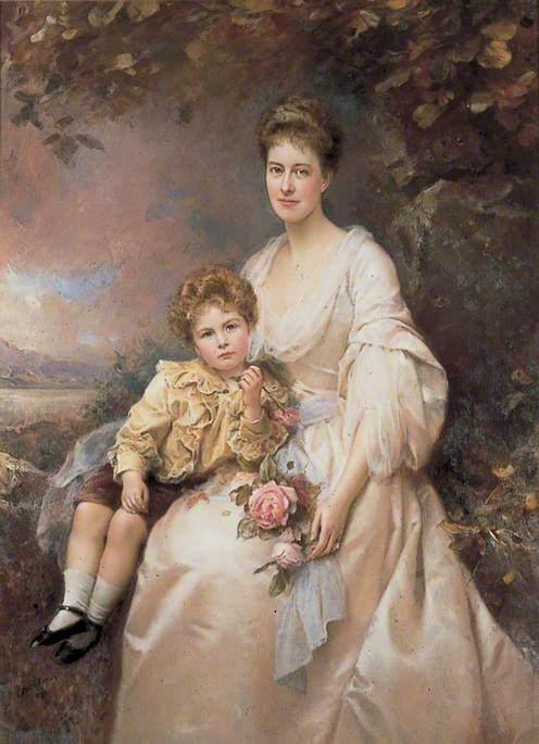 Mrs Laura Gascoigne (d.1949), and Her Son Alvary (1893–1970)