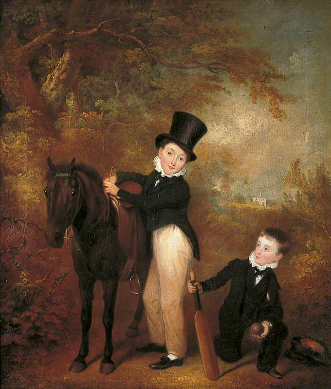 William and Charles Chadwick at Burley Lodge