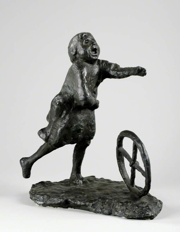 Running Girl with Wheel