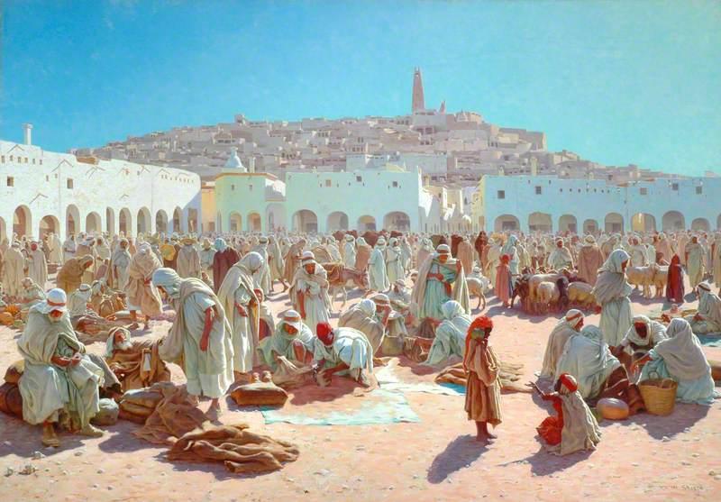 African Bazaar Scene