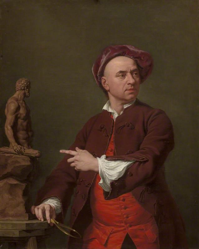 John Michael Rysbrack Modelling His Terracotta Statue of Hercules
