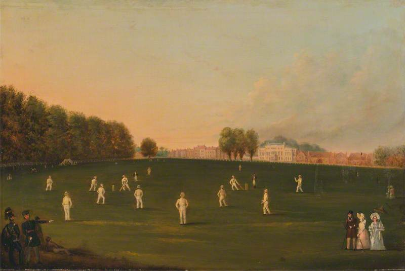 First Grand Match of Cricket Played by Members of the Royal Amateur Society on Hampton Court Green, 3 August, 1836