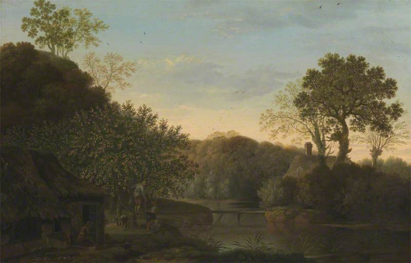 An Autumn Landscape with Apple Pickers