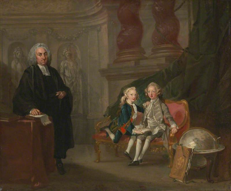 Prince George and Prince Edward Augustus, Sons of Frederick, Prince of Wales, with Their Tutor Dr Francis Ayscough