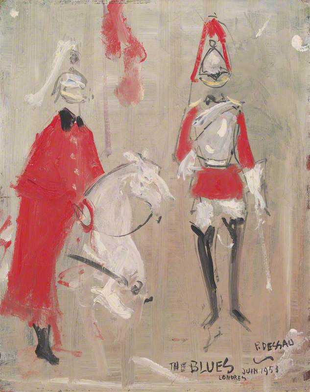Studies of Household Cavalry Seen during the Coronation of Queen Elizabeth II, 1953