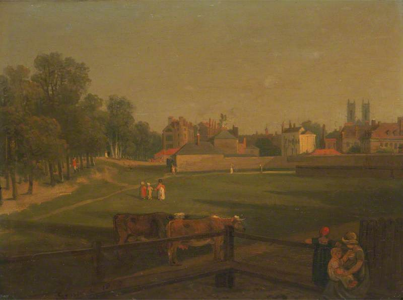 A Western View of Part of Westminster and Bird Cage Walk Taken from the Mill House
