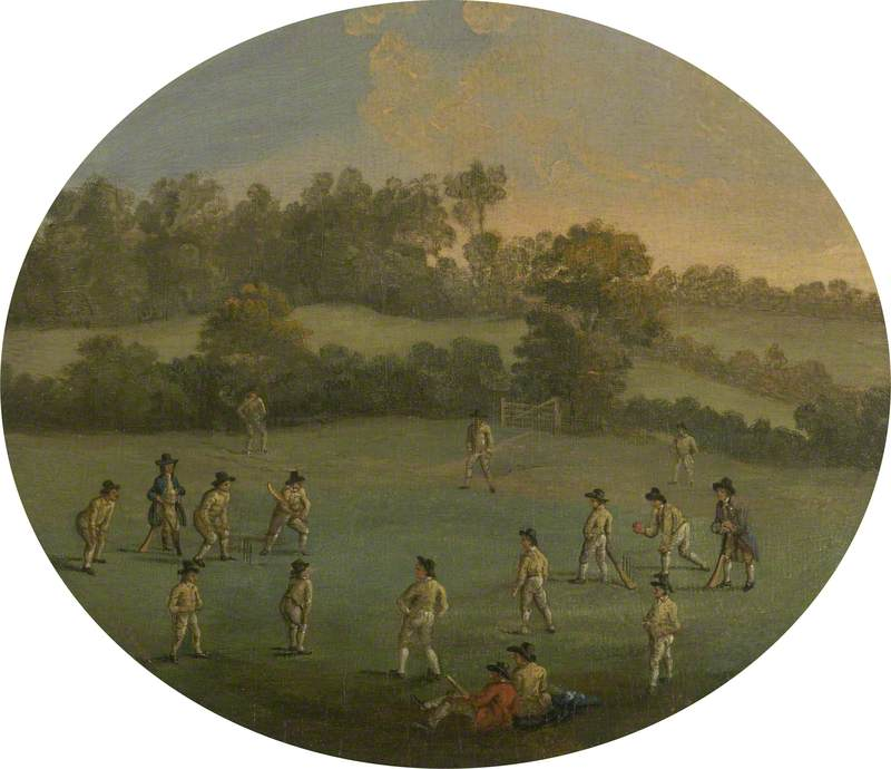 A Game of Cricket (The Royal Academy Club in Marylebone Fields, now Regent's Park)
