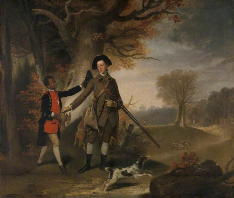 An Unknown Man, Perhaps Charles Goring of Wiston (1744–1829), Out Shooting with His Servant