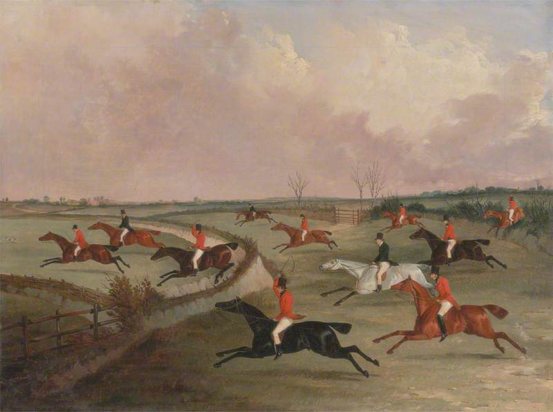 The Quorn Hunt in Full Cry: Second Horses, after Henry Alken