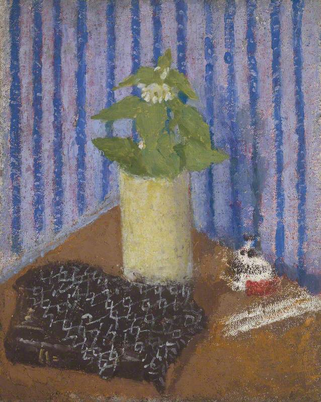 Still Life with a Prayer Book, Shawl, Vase of Flowers and Inkwell