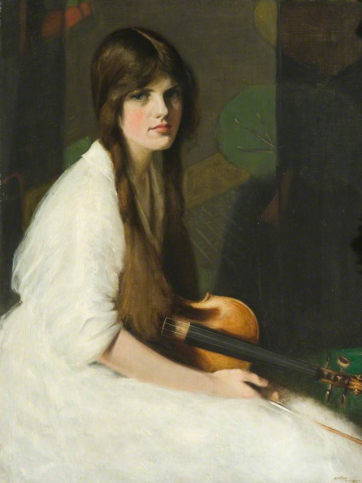 Phyllis with a Violin