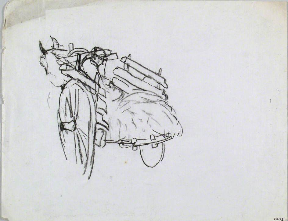 Mule Cart Viewed from the Back