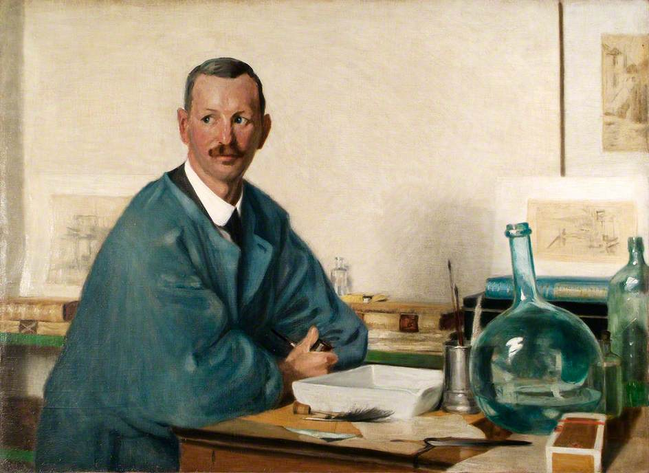 Martin Hardie (1875–1952), in His Etching Studio