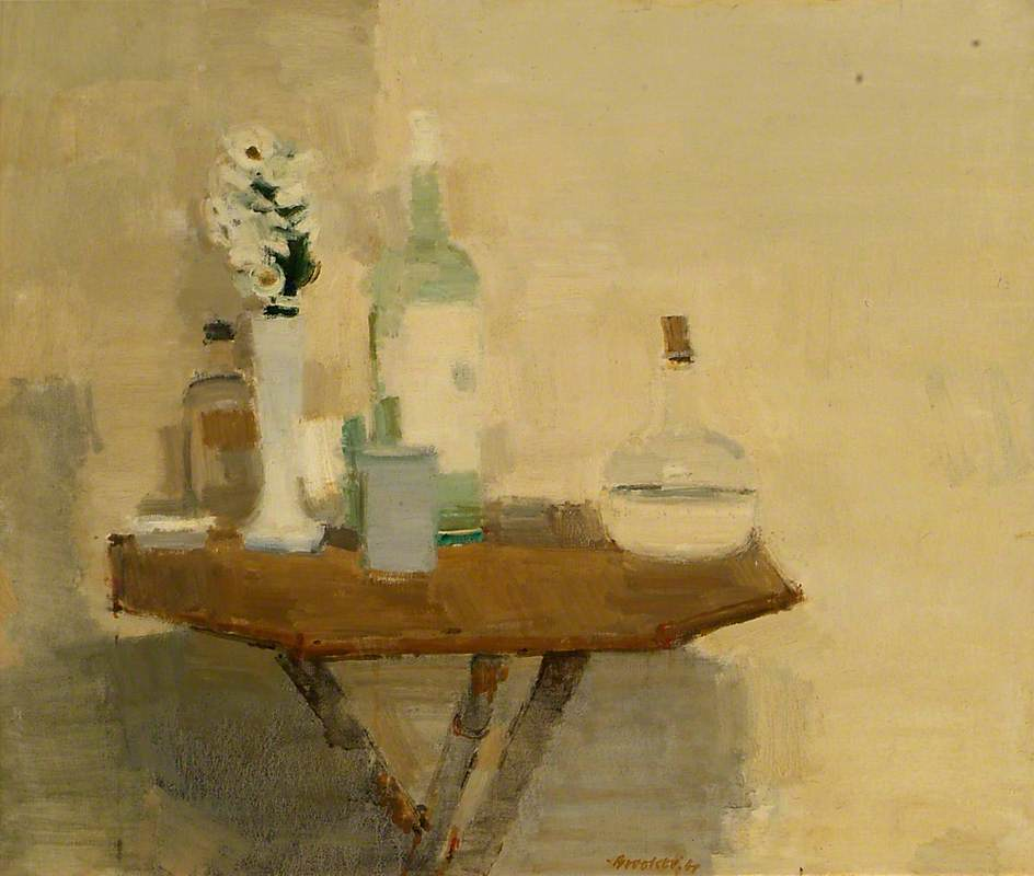 Still Life on a Bamboo Table