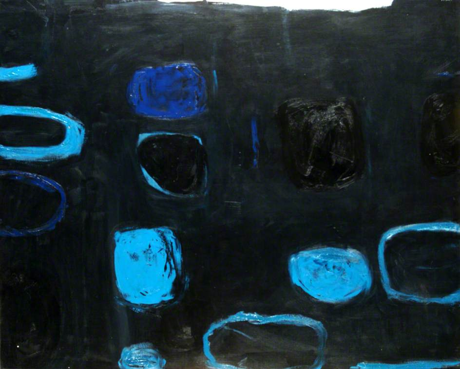 Composition with Blue and Black
