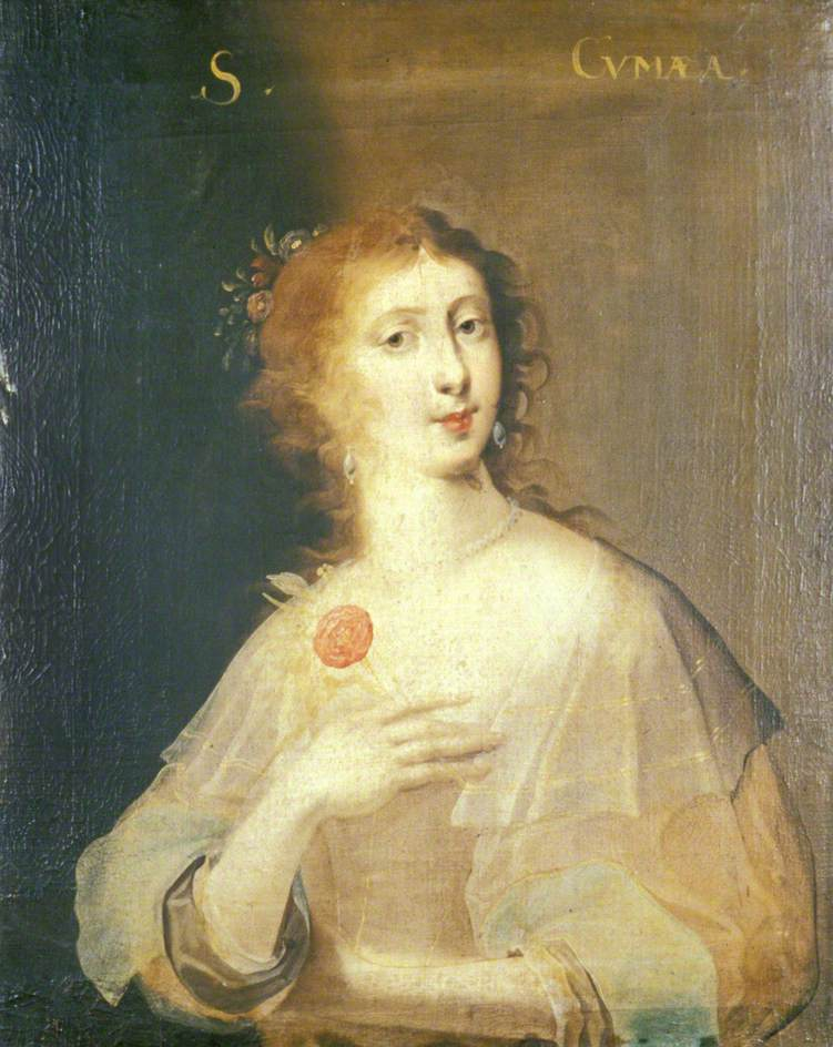 George Jamesone's portrait of the Sibyl Cumnea, held at the University of Aberdeen