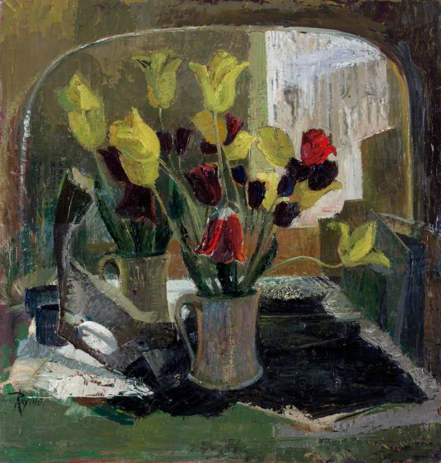 Flowers in Front of a Mirror