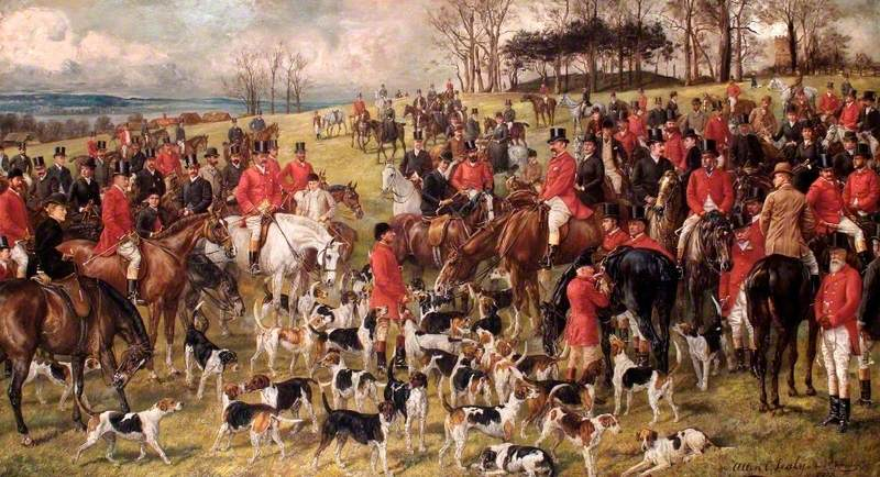A Kill with the Whaddon Chase Foxhounds