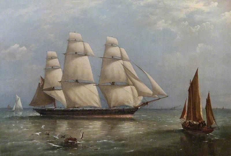 'HMS Pelican' Homeward Bound in the English Channel, 1866 (Commander, Ralph P. Cator)
