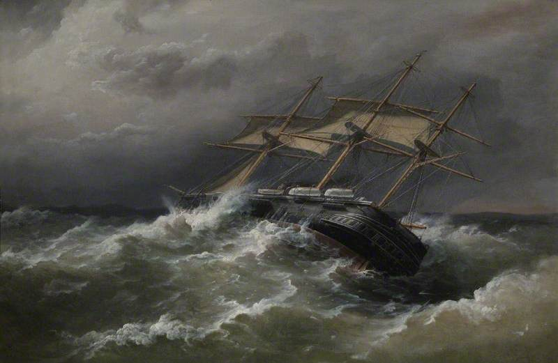 'HMS Defence' off Vigo, Spain, in Heavy Sea, 7 December 1876 (Captain, Ralph P. Cator)