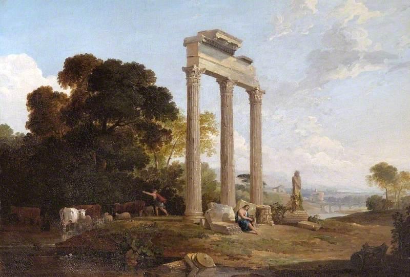 Columns in an Italianate Landscape