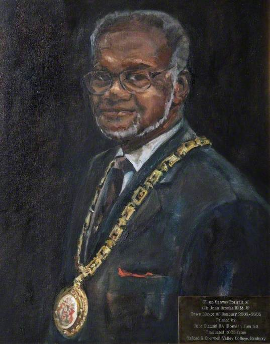 Councillor John Brooks (b.1935), BEM, JP, Town Mayor of Banbury (2005–2006)