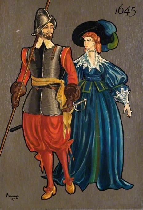 Soldier and Lady of 1645