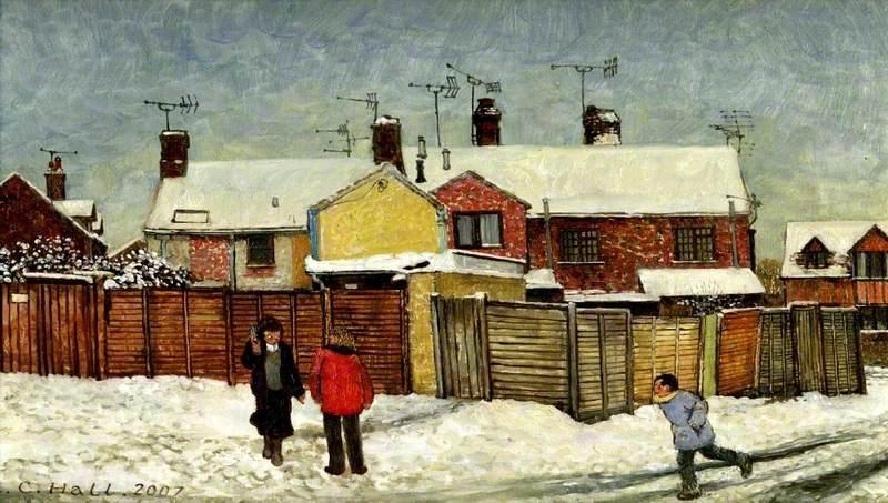 Derby Road, Newbury, Snow, February 2007