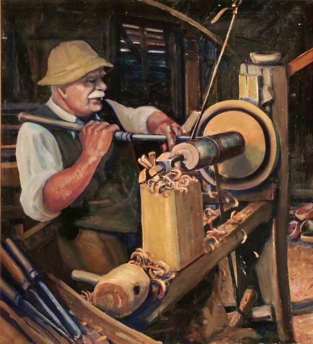 George William Lailey (1869–1958), Bowl Turner of Bucklebury, Berkshire