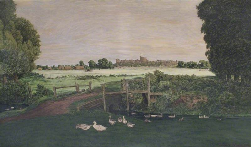 View of Windsor Castle from Eton Wick