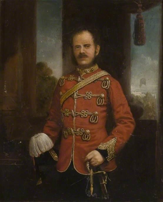 Lieutenant G. J. Peacock, Lieutenant Colonel of the Bedfordshire & Hertfordshire Regiment (1859–1870)