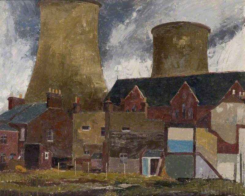 St Mary's Hall and Cooling Towers, Luton, Bedfordshire